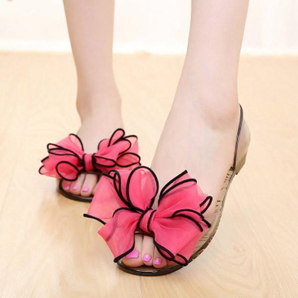 3072bcd7e8e Buy Summer Flower Flat Heel Jelly Shoes Online in India at cooliyo ...