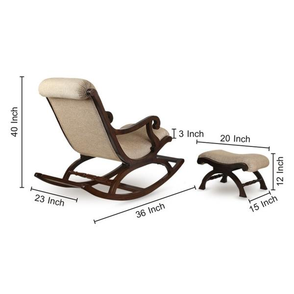 Superb Teak Wood Rocking Chair With Foot Rest Alphanode Cool Chair Designs And Ideas Alphanodeonline
