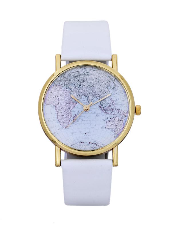 Buy white world map watch online in india at cooliyo coolest white world map watch image gumiabroncs Images