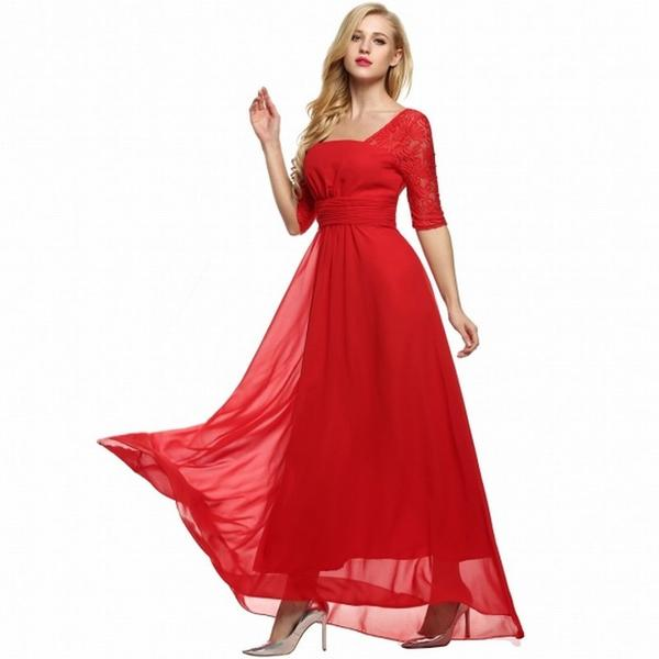 7df6c1b0ded8 Buy High Waist Full Gown Lace Party Evening Dress Online in India at ...