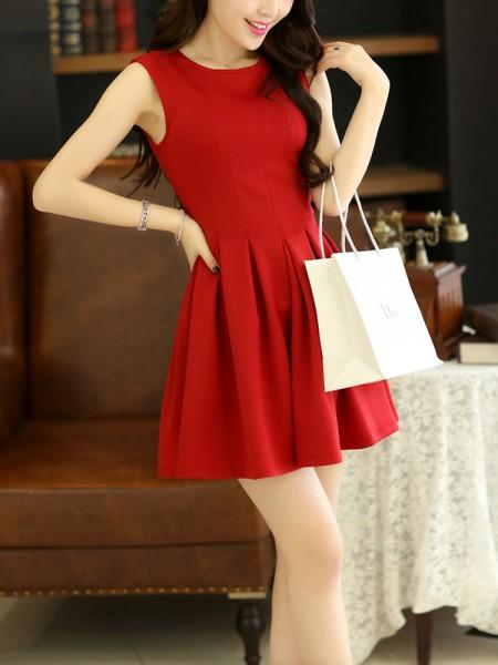 d2ccfe66fb02 Buy Glamorous Red Skater Dress Online in India at cooliyo   coolest ...