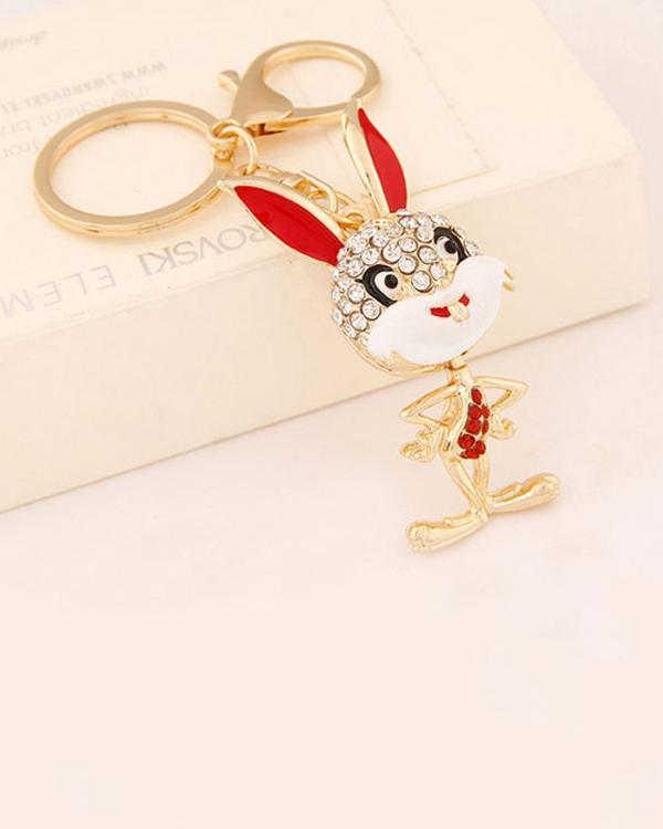 Buy Bling Bling Mr Bunny Bag Charm Key Ring   Key Chain Online in ... 3d0a82b2e69b