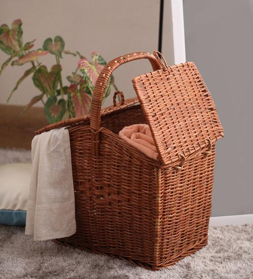 9723bb6b Buy Viso Cane Copper 8 L Large Basket Online in India at cooliyo ...