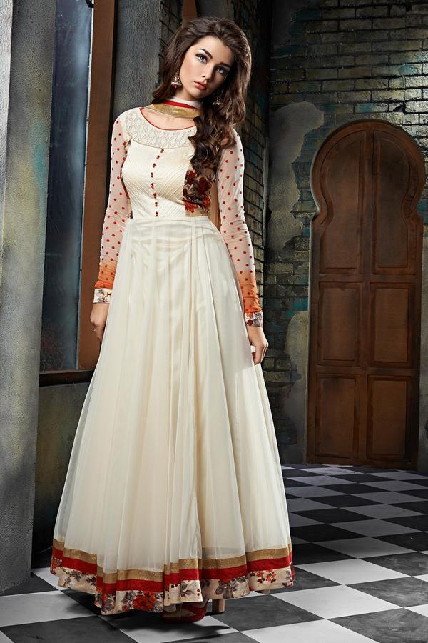 6b4050b789 Buy New Designer White Anarkali Suit Online in India at cooliyo ...