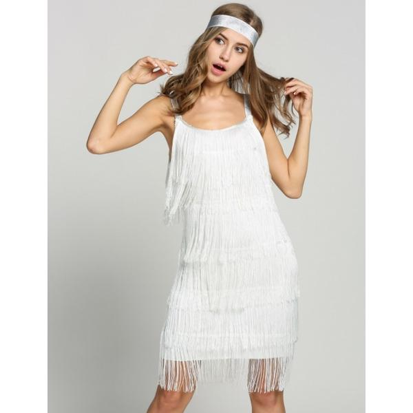 33810df6ca3 Women Straps Dress Tassels Glam Party Dress Gatsby Fringe Flapper Costume  Dress Image