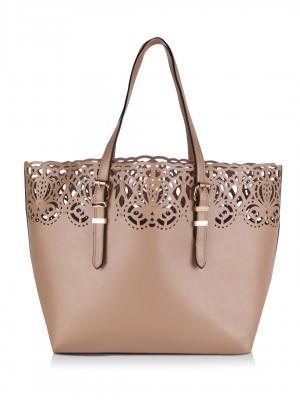 3896147d7de Baroque Laser Cut Shopper Tote Bag