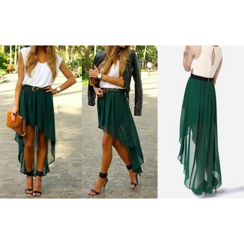 cdc75122c9 Buy Green high low Skirt Online in India at cooliyo : coolest ...