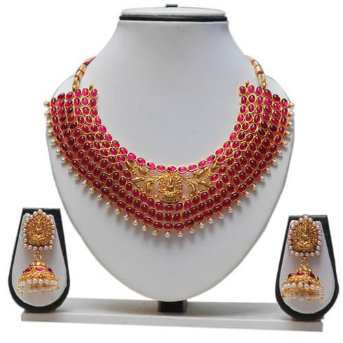 c556e34b1 Buy Craftsvilla Fashionable Ruby Kundan Necklace Set Online in India ...