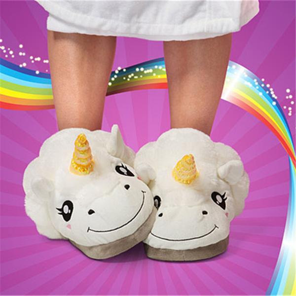 20ec2a57f79 Buy Unicorn Plush Slippers Online in India at cooliyo   coolest ...