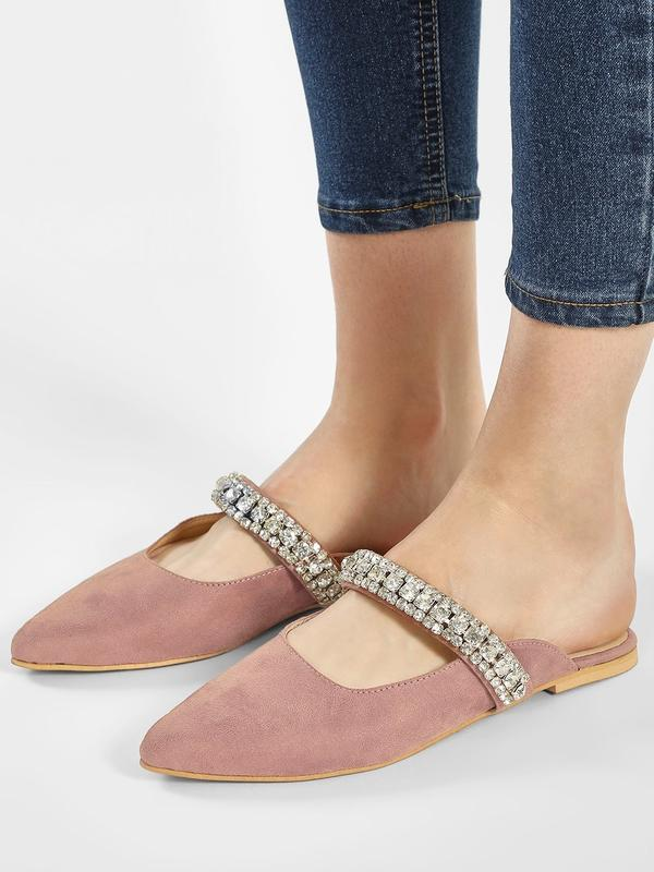 08e54b5c678a Buy Gem Studded Flat Mules Online in India at cooliyo   coolest ...