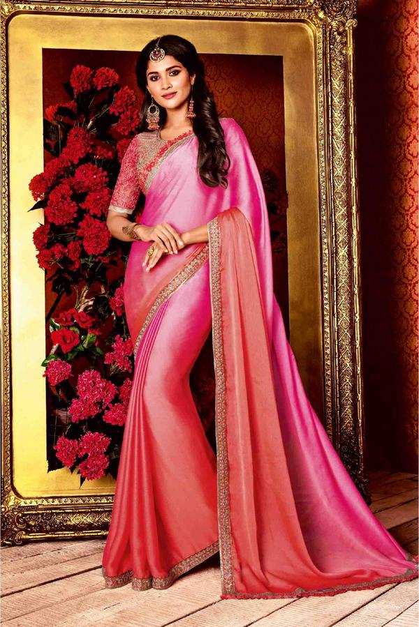 6286027bb8e9c2 Buy Satin Silk Saree In Pink Colour Online in India at cooliyo ...