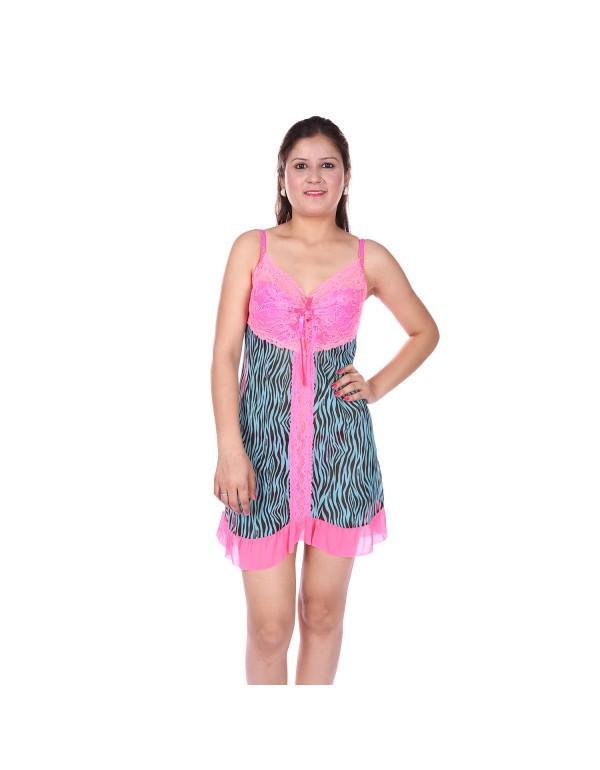 35ca6c224 Buy Pink Froak Type Babydoll Nightwear Online in India at cooliyo ...