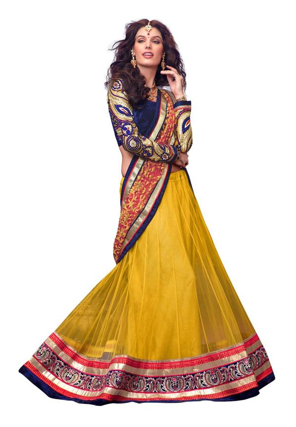 Buy Net Embroidered Lehenga Choli Online In India At Cooliyo