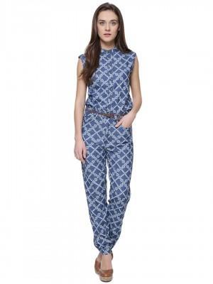 46baa3c89395 Buy Denim Jumpsuit In Floral Print Online in India at cooliyo ...