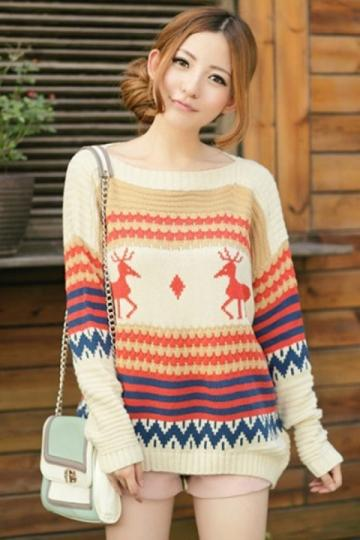Buy Reindeer Woven Cute Sweater Online in India at cooliyo ...