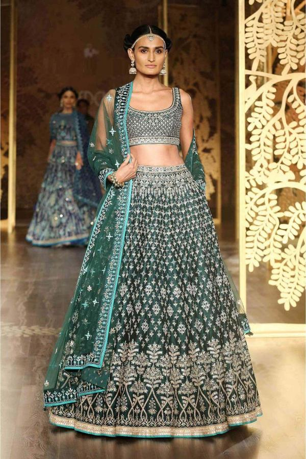 b181fe7372f Buy Satin Lehenga Choli In Teal Green Colour Online in India at ...