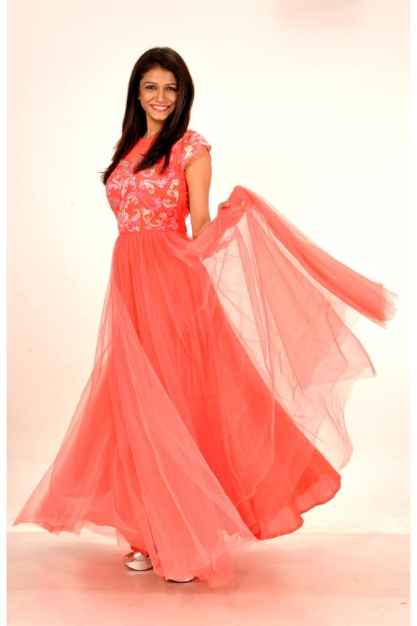 Buy Peach Passion Designer Gown Online in India at cooliyo : coolest ...