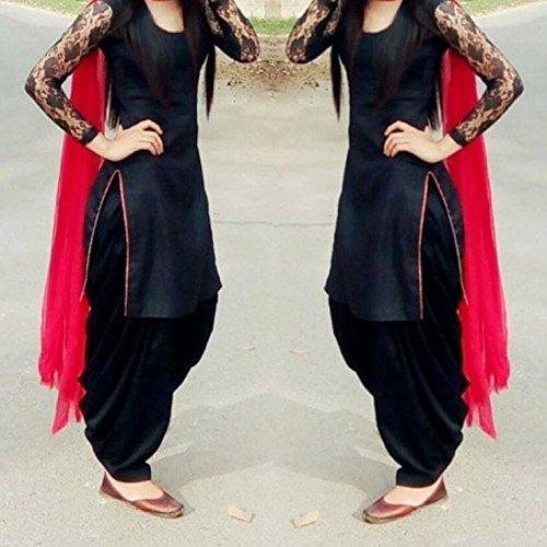a31e907a41 Buy Black Patiala Dress Material Online in India at cooliyo ...