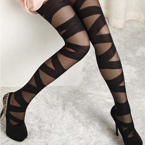 993209e14fe Buy Sexy Pantyhose Vintage Black Ripped Stretch Leggings Online in ...