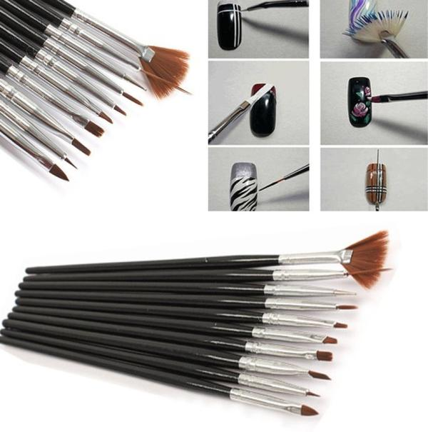 Buy Nail Art Painting Polish Manicure Pedicure Brushes Online In